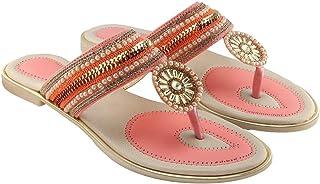 Blinder Womens Fancy Flat Slippers