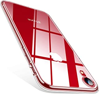TORRAS Crystal Clear iPhone XR Cases, [10X Anti-Yellowing] [Ultra Thin Slim Fit] Soft Silicone TPU Protective Cover Case for iPhone XR, Clear