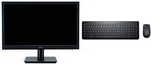 Dell 18.5 inch (46 cm) LED Backlit Monitor - D1918H (Black) with Dell Km117 Keyboard Combo