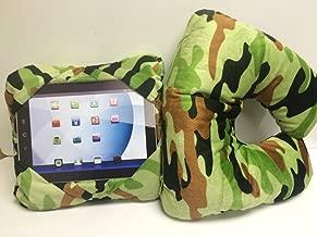 GOGO Pillow - 3-in-1 Travel Pillow, Neck Pillow, Tablet Holder - Green Camo