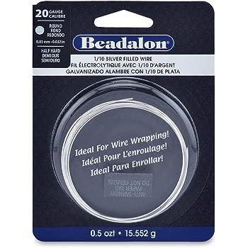 Beadalon 20-Gauge Half Hard Silver Filled CDA220 1//10 Jewelry Wire Round 0.5 Troy Ounce