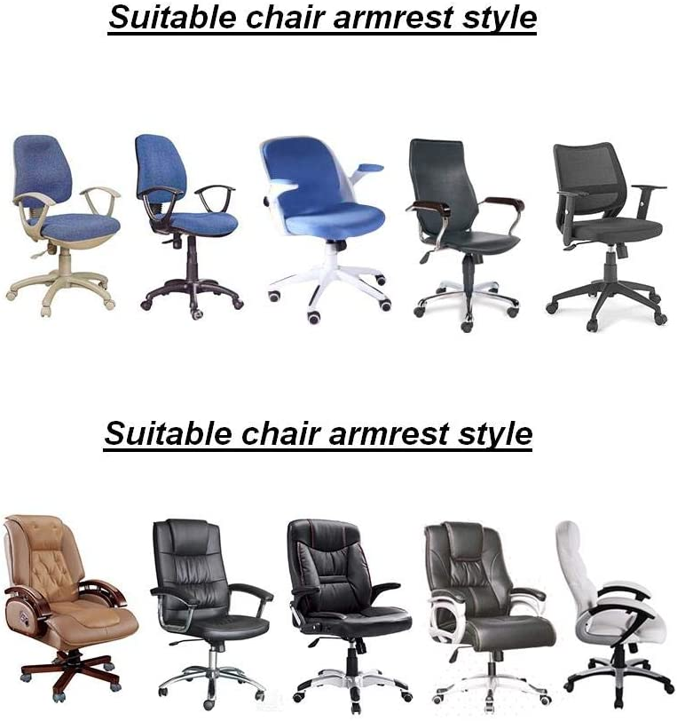Newly Chair Armrest Covers Office Meeting Room Chair Arm Dustproof Cover 1 Pair