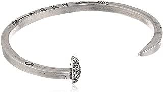 Giles & Brother Silver-Tone Skinny Railroad Spike Cuff Bracelet, 4.5