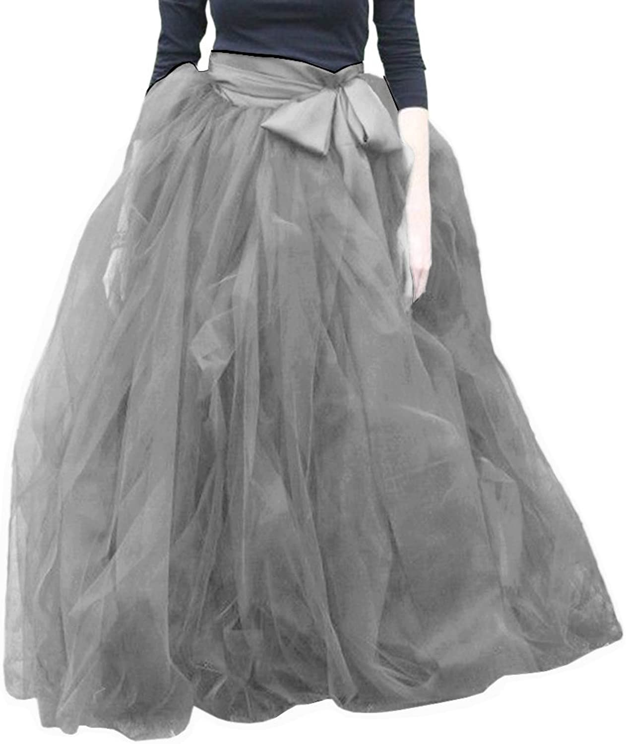 EllieHouse Womens Long Tutu Tulle Skirt PC27