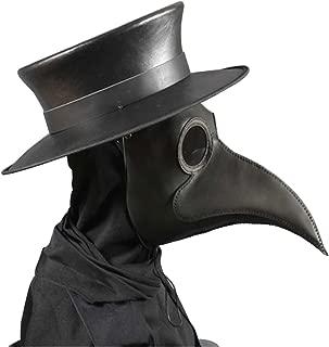 Anjoy Plague Doctor Mask Birds Long Nose Beak Faux Leather Steampunk Halloween Costume