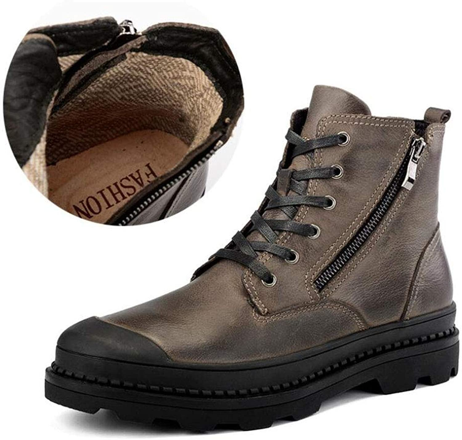 Men's Boots,Spring Winter,Leather Martin Style,Comfort Cotton Boots,Running shoes,Athletic shoes, Outdoor Exercise Sneakers,Casual Hiking shoes,Tooling shoes,B,41