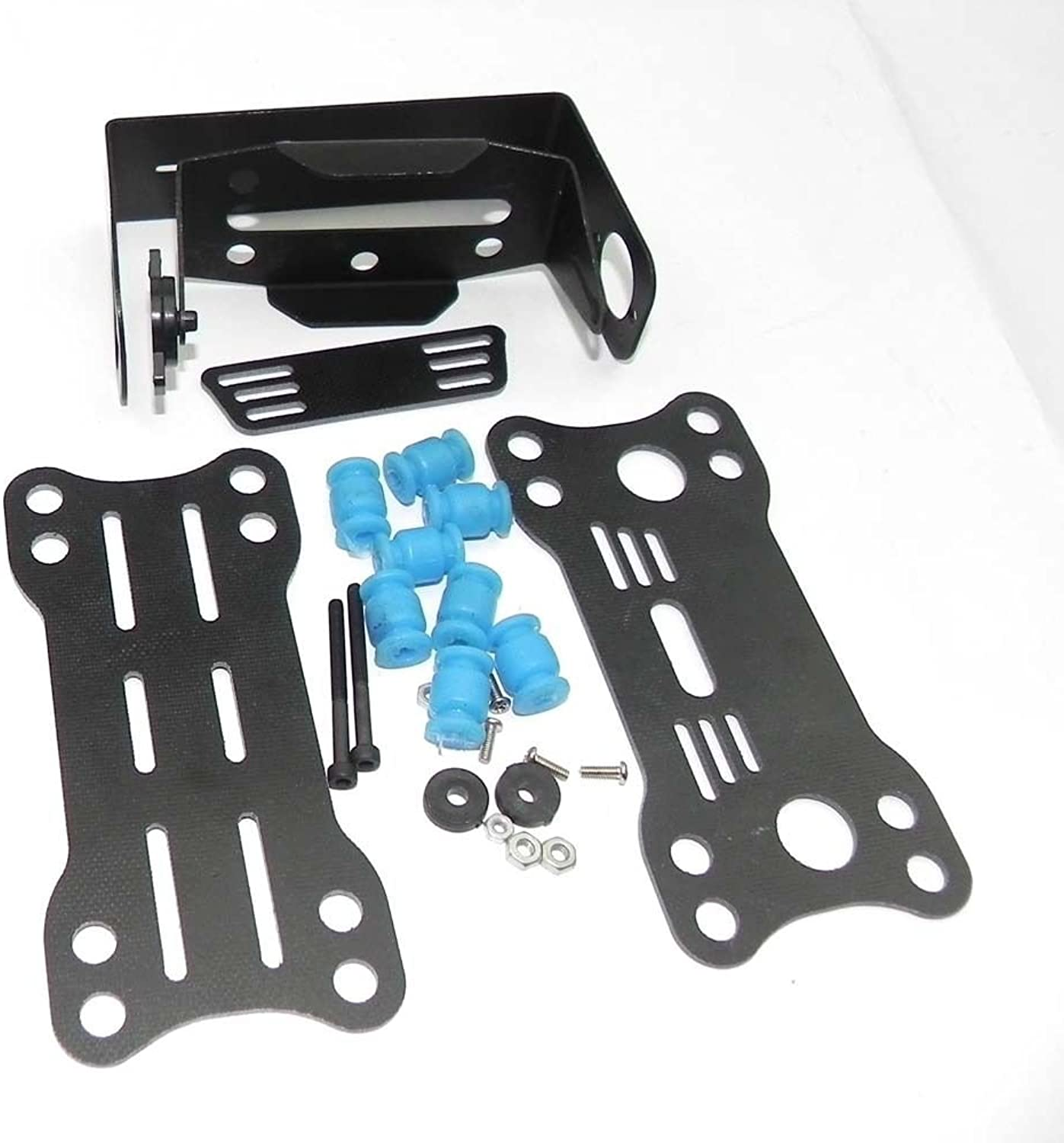 Metal Glass Fiber PTZ Pan Tilt Camera Mount 2 Axis for SJ4000 Quadcopter