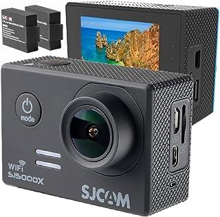 アクションカメラ 4K SONY製センサー 手振れ補正 追加バッテリー 日本語 ガイド SJ5000X 4K動画 超小型 大画面 2インチ ウェアラブルカメラ・アクションカム スポーツカメラ(ブラック)