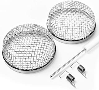 SS VISION Stove Protective Cover - 2 Pack RV Furnace Vent Screens, RV Stainless Steel Cover 2.8 Inch with Installation Tool