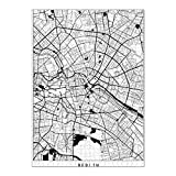artboxONE Ravensburger-Puzzle XL (1000 Teile) Städte Berlin map minimal - Puzzle Berlin Germany Deutschland
