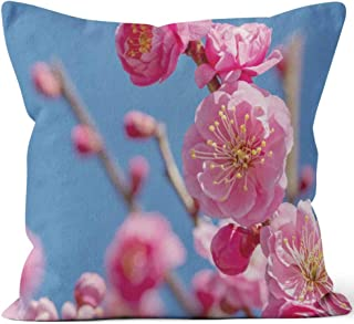 Nine City Ume is Japanese Plum Throw Pillow Cushion Cover,HD Printing Decorative Square Accent Pillow Case,36
