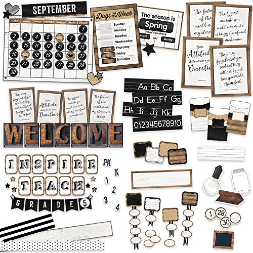 Industrial Chic Classroom Environment Décor All in One Kit