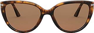 بيرسول PO 3251S كافيه/بني 55/18/145 نظارة شمسية للنساء