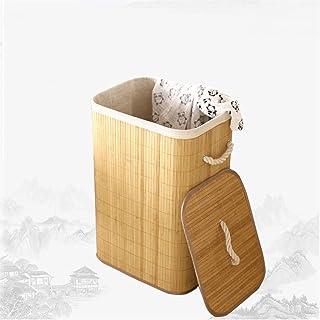 SJYDQ Panier de Rangement en Bambou Pliable Grands vêtements Stockage Buanderie Organisateur pour vêtements Sales Tissage ...