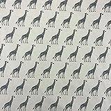 Giraffe Baumwolle Rich Leinen Look Stoff für Vorhänge