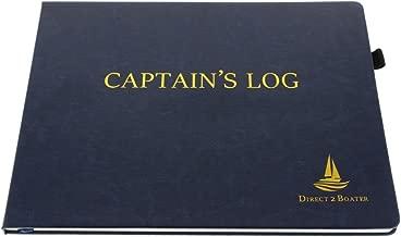 Direct 2 Boater Elegant Blue Hard Bound Captain's Log Book with Place Marker & Pen Holder