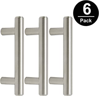 Gobrico Stainless Steel Cabinet Pull Handle for Furniture Drawer Cupboard Dresser T-bar Hole Center 2-1/2