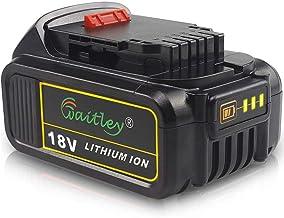 QUPER DCB184 18V 5.0Ah MAX XR Batería de repuesto para pantalla LED Compatible con Dewalt DCS355N-XJ, DCW210N-XJ, DCM563PB-XJ, DCG405N, DCD796N, DCW210N-XJ, DCS571N, DCS335N, DCV517, DCG412N