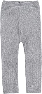 Weixinbuy Kids Baby Girl's Cotton Basic Comfort Stretchy High Waist Leggings Pants Trousers Bottoms