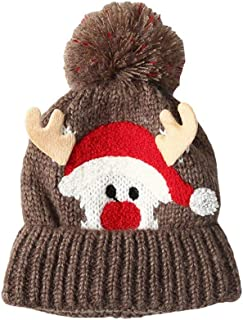 COMVIP Baby Infant Knitted Plush Winter Warm Christams Beanie Skull Hat