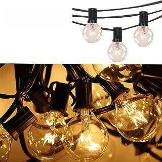 7.5 metros guirnalda luces exterior - G40 cadena de luces para exterior Impermeable guirnalda bombillas exterior con 25 bombillas de globo,Guirnaldas luminosas de exterior tira de bombillas exterior