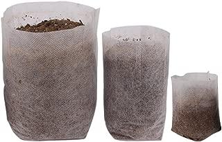 Benail 400Pcs Degradable Non-Woven Plant Nursery Bags Plant Seeding Bags (100 Pcs 7.09