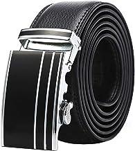 Men's Belt Business Casual Belt Automatic Buckle Belt. Casual (Color : Brown, Size : 115cm)