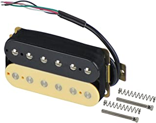 FLEOR Electric Guitar Double Coil Humbucker Pickups 52mm Ceramic Bridge Pickup - (Black + Cream)