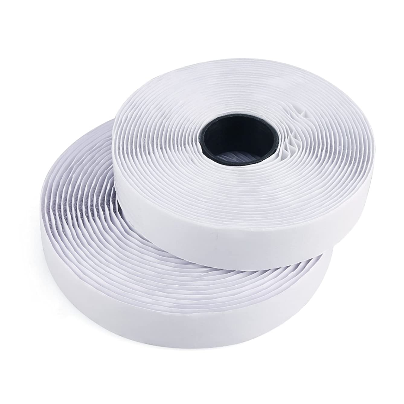 Self Adhesive Tape Self Adhesive Hook and Loop Sticky Back Tape White Reusable Fabric Fastener (16.4 Ft)