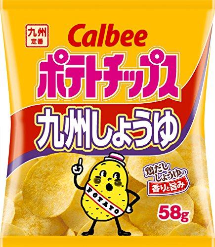 カルビー ポテトチップス 九州しょうゆ 58g×12袋