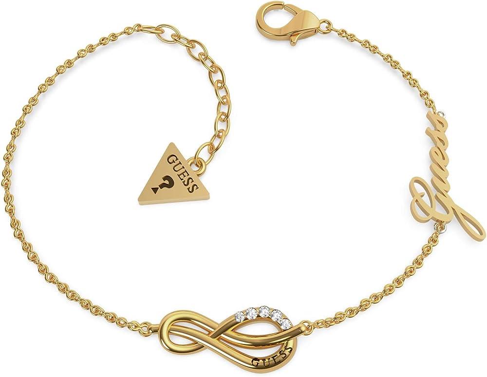 Guess bracciale da donna bracciale in acciaio inox con cristalli swarovski 32014002