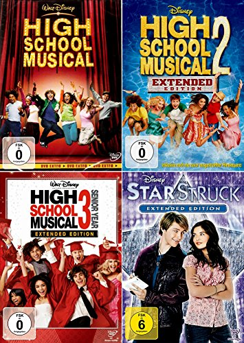 High School Musical 1 + 2 + 3 Collection + Starstruck [4er DVD-Set]