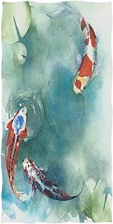 ALAZA Japanische Koi-Fische im Teich, ultraweiches Handtuch,