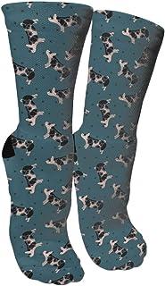靴下 抗菌防臭 ソックス ポルカドットは豚スポーツスポーツソックス、旅行&フライトソックス、塗装アートファニーソックス30センチメートル長い靴下