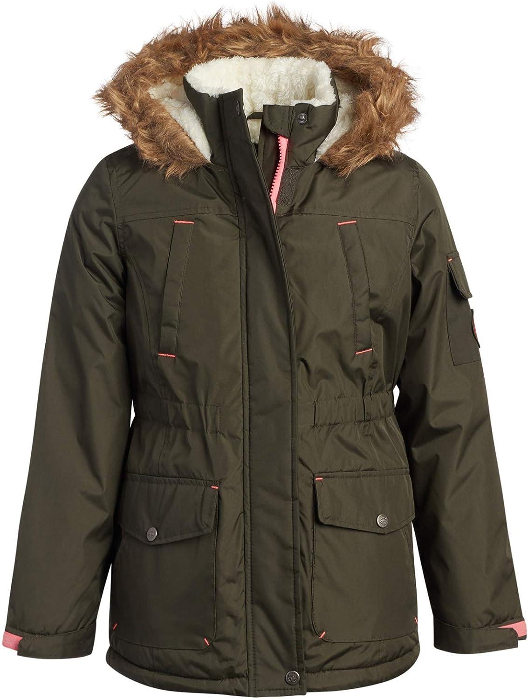 Limited Too Girls Winter Coat Sherpa Fleece Lined Anorak Jacket with Faux-Fur Trim Hood