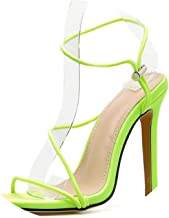 Fashion Narrow Band Office Lady Shoes High Heels Gladiator Sandals Big Size 35-42