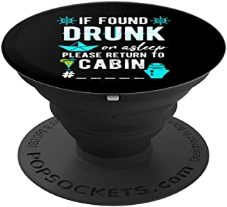 If Found Asleep or Drunk | Party Cruise Essentials Accessory - PopSockets Grip and Stand for Phones and Tablets