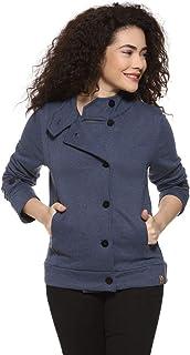 Campus Sutra Women Mandarin Front Button Open Casual Jacket