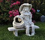 HOME HUT Maison Refuge de Grande Chérubin Jardin en Céramique Ornement Figure Antique...