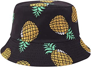 XLGX-Chapeau Bob Toile de Coton Motif Gradient de Teinture Chapeau de Soleil Double Face Pliable Anti-UV Protection /Ét/é pour Femmes
