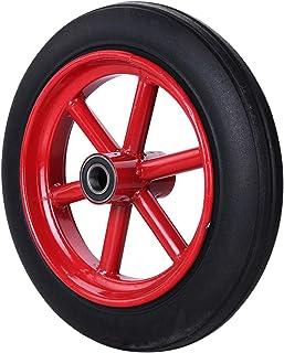 YJJT Massieve rubberen wielen, Heavy Duty industriële wielen, Stil, antislip, slijtvast, met stalen wielkern en dubbele la...