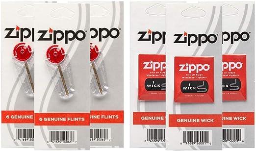 Ensemble 1 Mèche 7 Pierres pour Zippo et autre briquet tempête à essence clipper