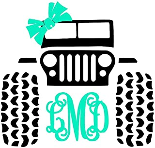 jeep monogram decal