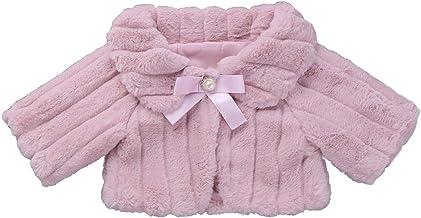 IEFIEL Cárdigan Niña Abrigo Bolero Invierno Otoño Chaqueta de Princesa Fiesta Boda Bolero para Vestido Cardigan de Piel Sintética 2-12 Años