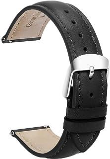 Cuir Véritable Quick Release Montre Bracelet Bande 18mm Remplacement Dégagement Rapide Fixation Rapide Inoxydable Polie Bo...