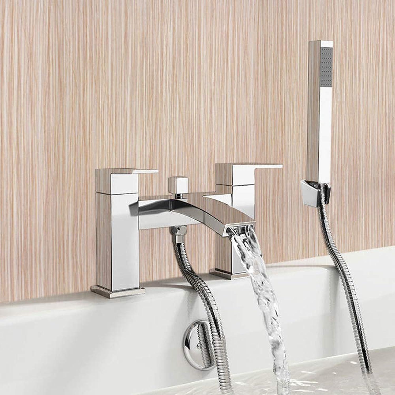 XEMQENER Waterfall Bath Filler Mixer Tap with Handheld Shower Head by Warmiehomy