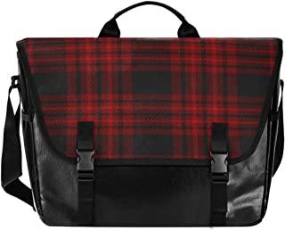 Bolso de lona para hombre y mujer, diseño de rayas, color negro y rojo