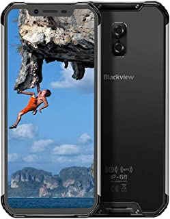 """Blackview BV9600 Unlocked Rugged Cell Phone、Helio P70 Octa-Core 4GB + 64GB Android 9.0 Rugged Smartphones with 6.21""""FHD AM..."""