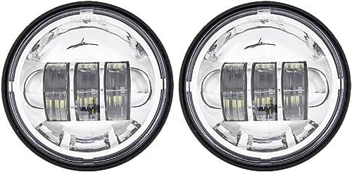 Lot de 2 ampoules LED auxiliaires pour phares de moto Harley Davidson 4,5 cm