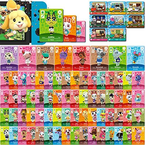 NFC Mini-Kartenpaket für Animal Crossing New Horizons Serie 1-4 für Switch/Switch Lite/Wii U (Set C # 1-72 + RV # 1-8)